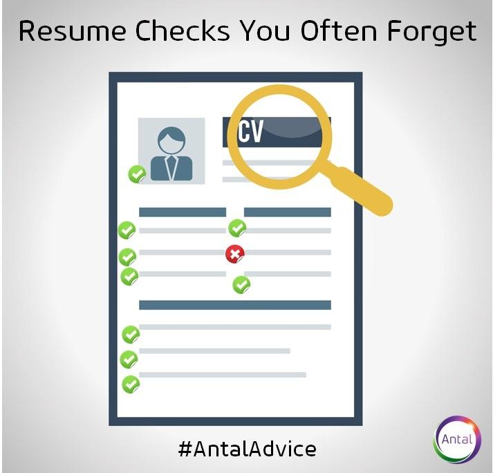 resume checks you often forget