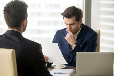 Boss worrying because of company bad annual report